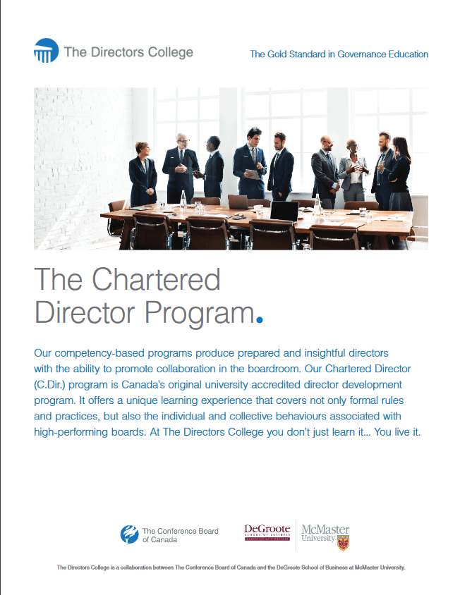 The Chartered Program Brochure